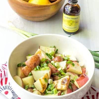 Lemony Grilled Potato Salad