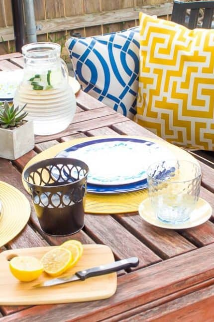 Spring Patio Decor with At Home