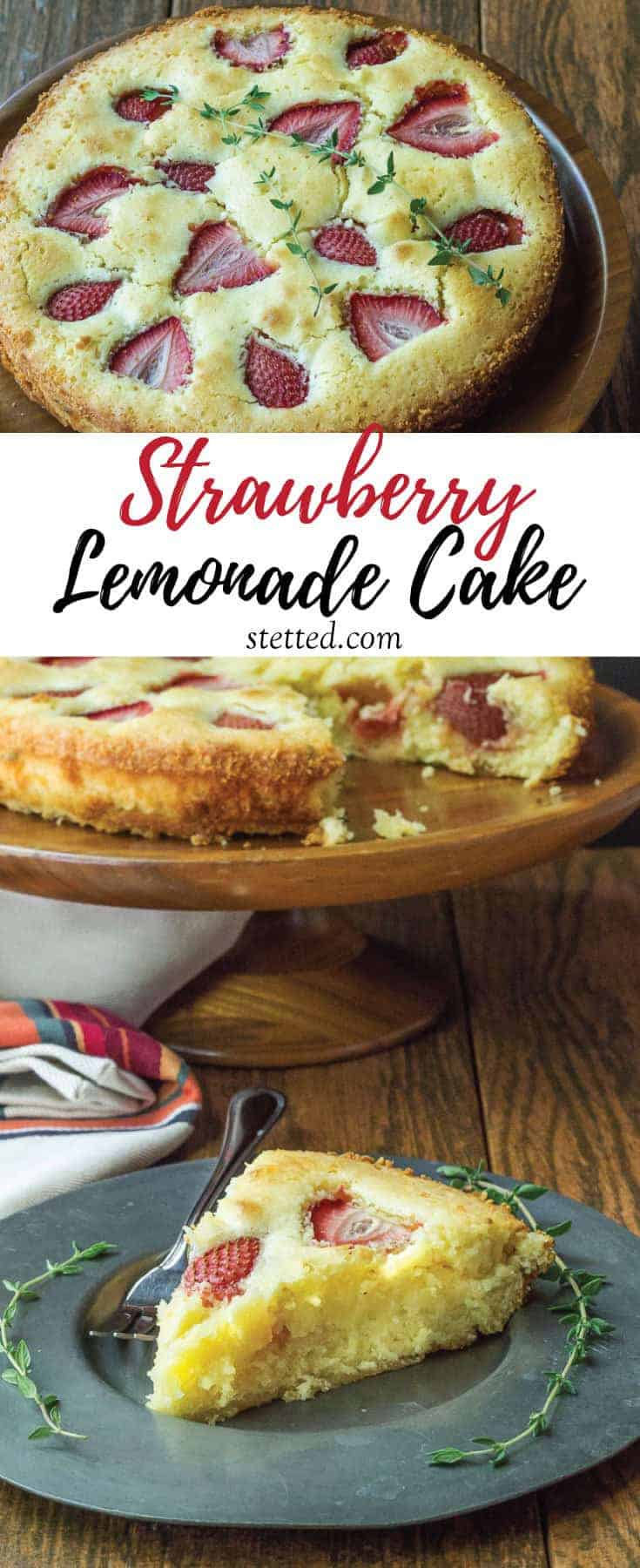 Strawberry lemonade cake needs no frosting to make it shine. The sweet-tart flavor is perfect for spring gatherings.