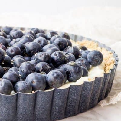 Blueberry White Chocolate Tart