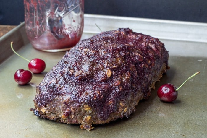 Cherry glazed meatloaf makes the standard meatloaf a bit more exciting.