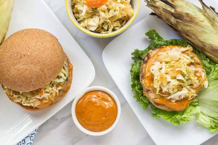 Gochujang Pollock Burger Picture
