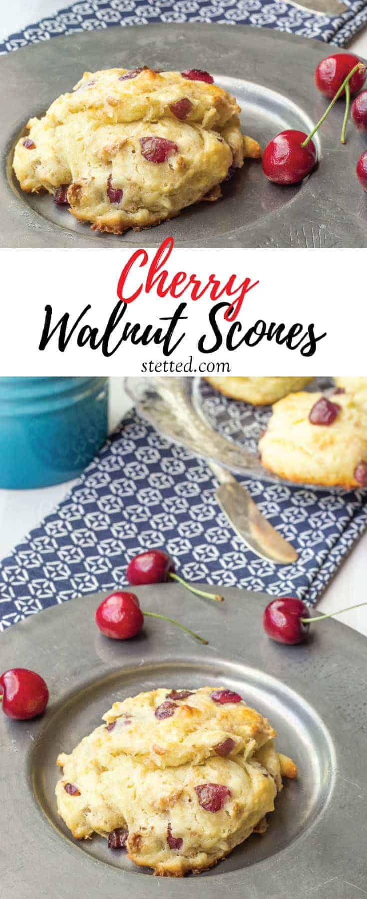 Cherry walnut scones are the ideal summer breakfast treat. Tender and lightly sweet, all they need is a swipe of butter.