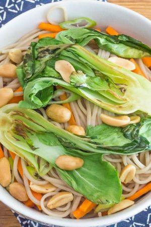 Peanut Soba Noodles with Bok Choy