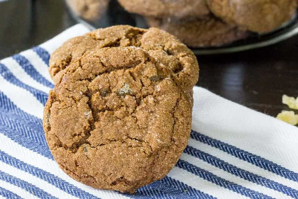 Double ginger molasses cookies are the perfect cookie for autumn.