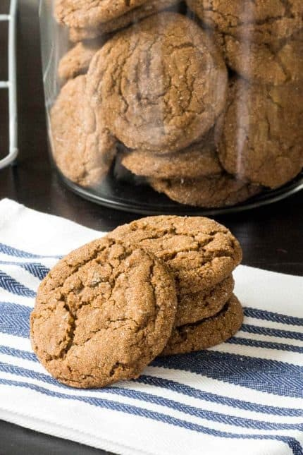 Double ginger molasses cookies are soft, spicy, and remind you of days gone by.