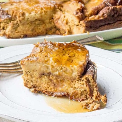 Slow cooker pumpkin French toast is a cozy breakfast that's ready when you wake up in the morning.