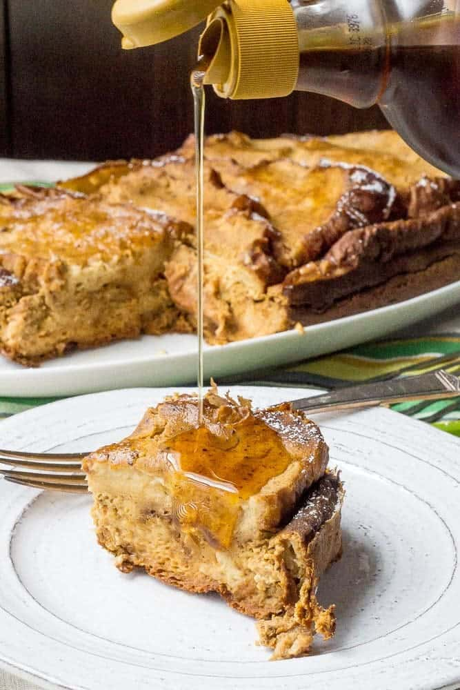 Slow cooker pumpkin French toast is a great hands-off breakfast this season. This easy recipe is ideal for company!