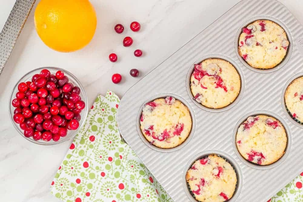 Cranberry orange muffins make getting out of bed easier.