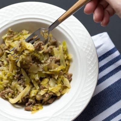 Pork Cabbage Skillet