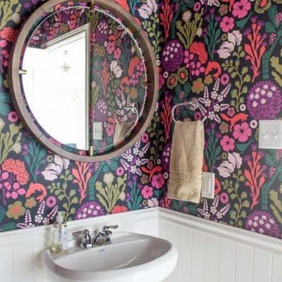 Powder Room Remodel: Fresh and Floral
