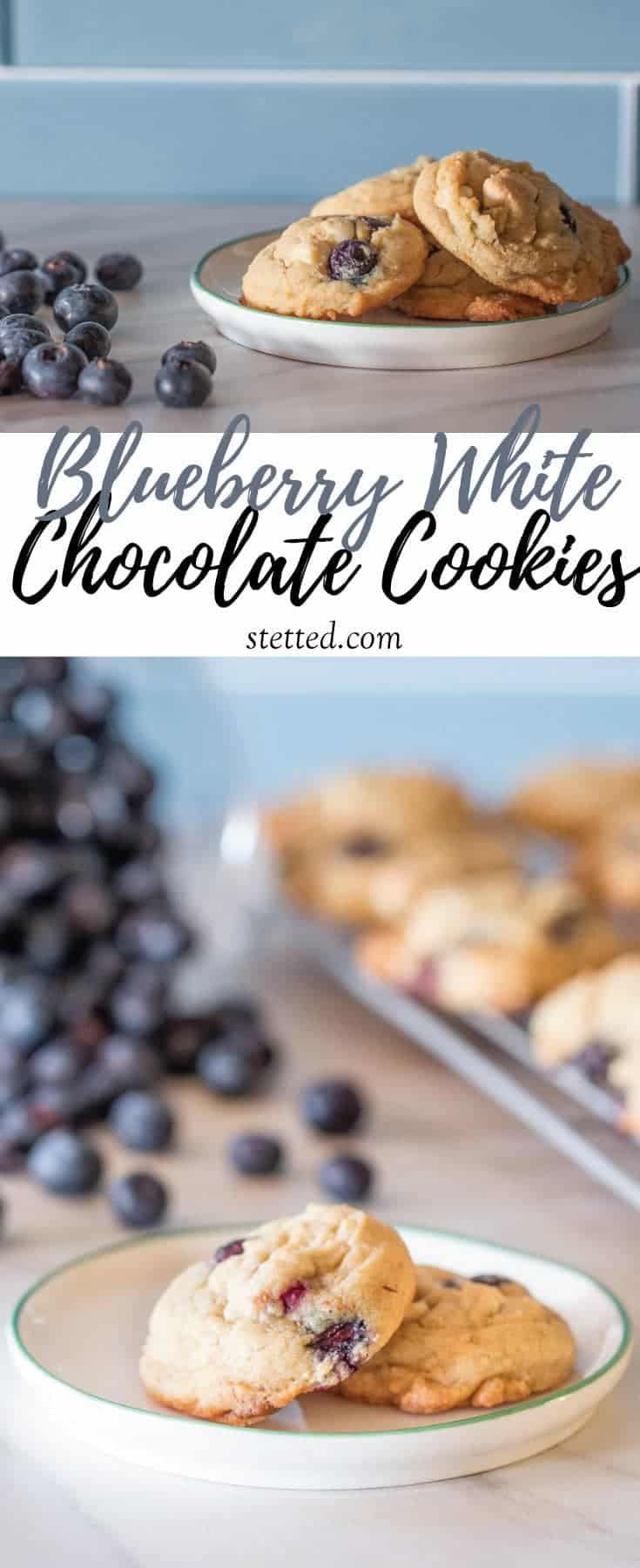 Blueberry white chocolate cookies are completely unexpected, yet totally delicious! You'll love this summery cookie.