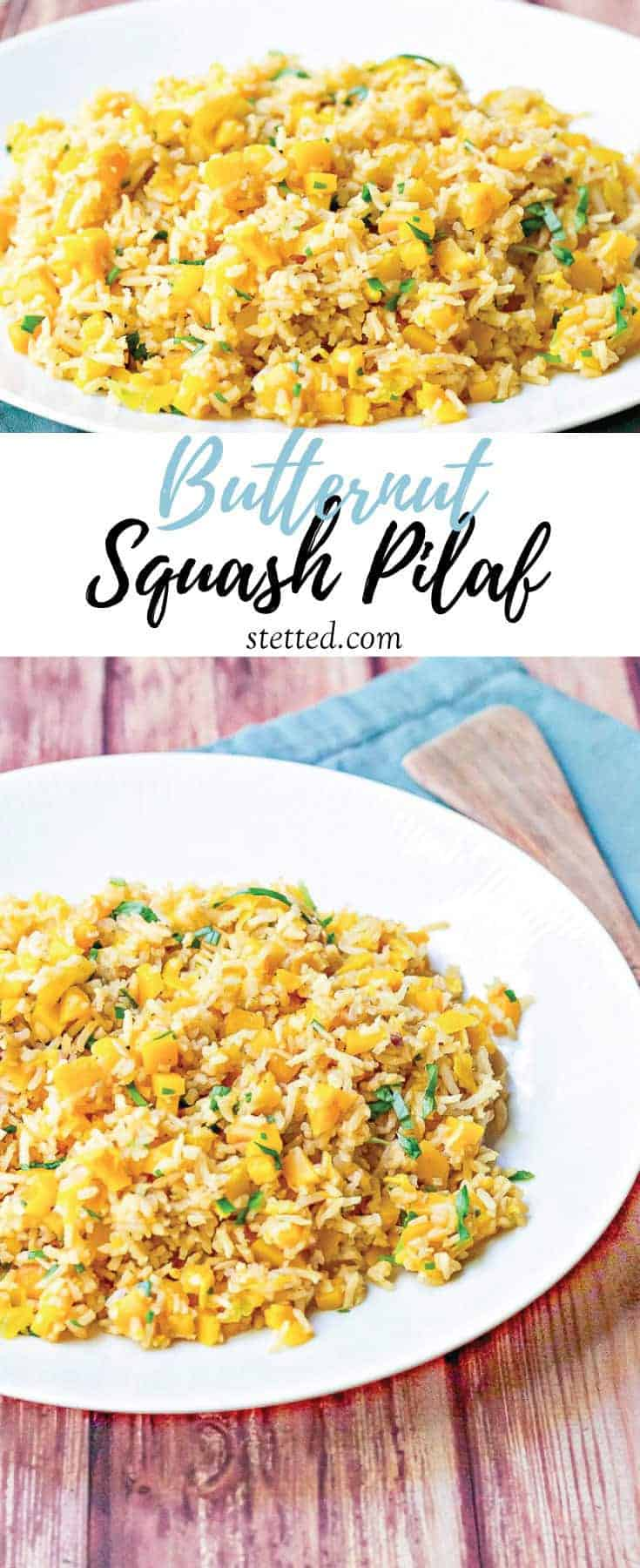 Butternut squash pilaf is a family-friendly side or main dish that comes together easily in one pan.