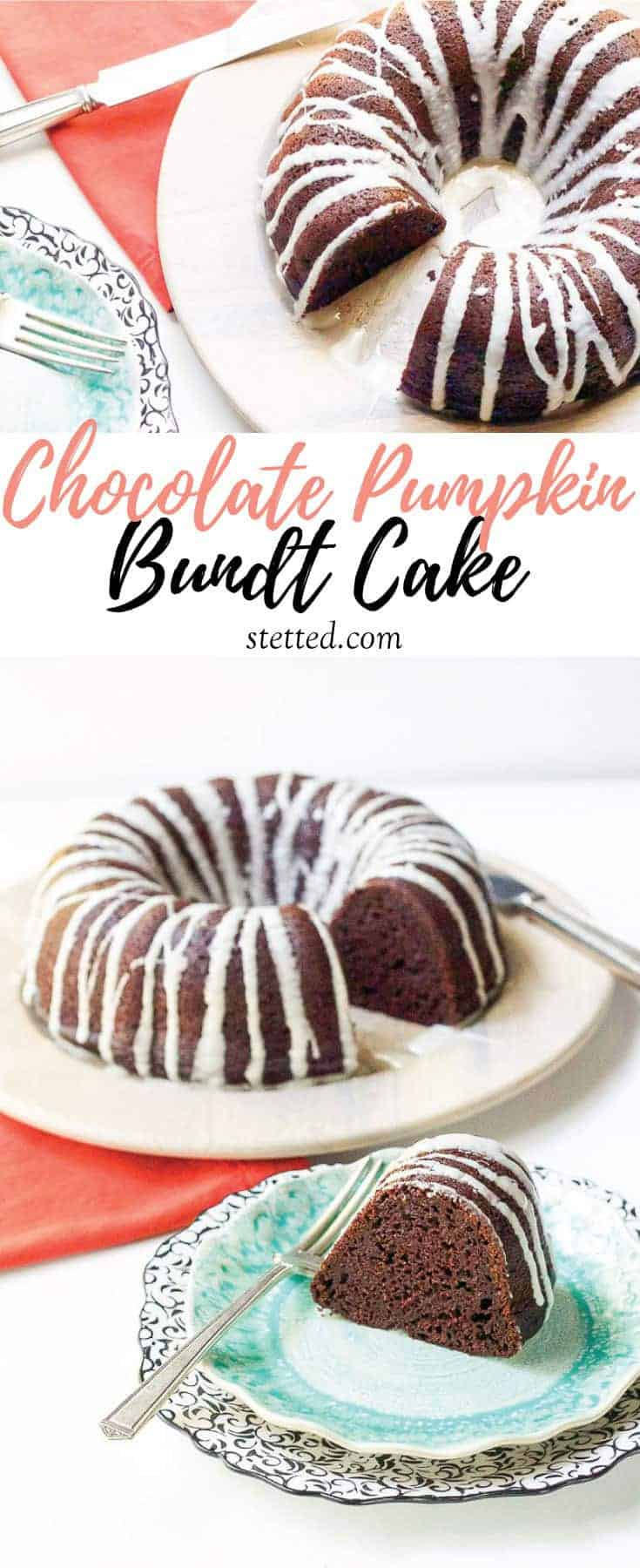 Chocolate pumpkin bundt cake changes up the standard holiday dessert offerings.