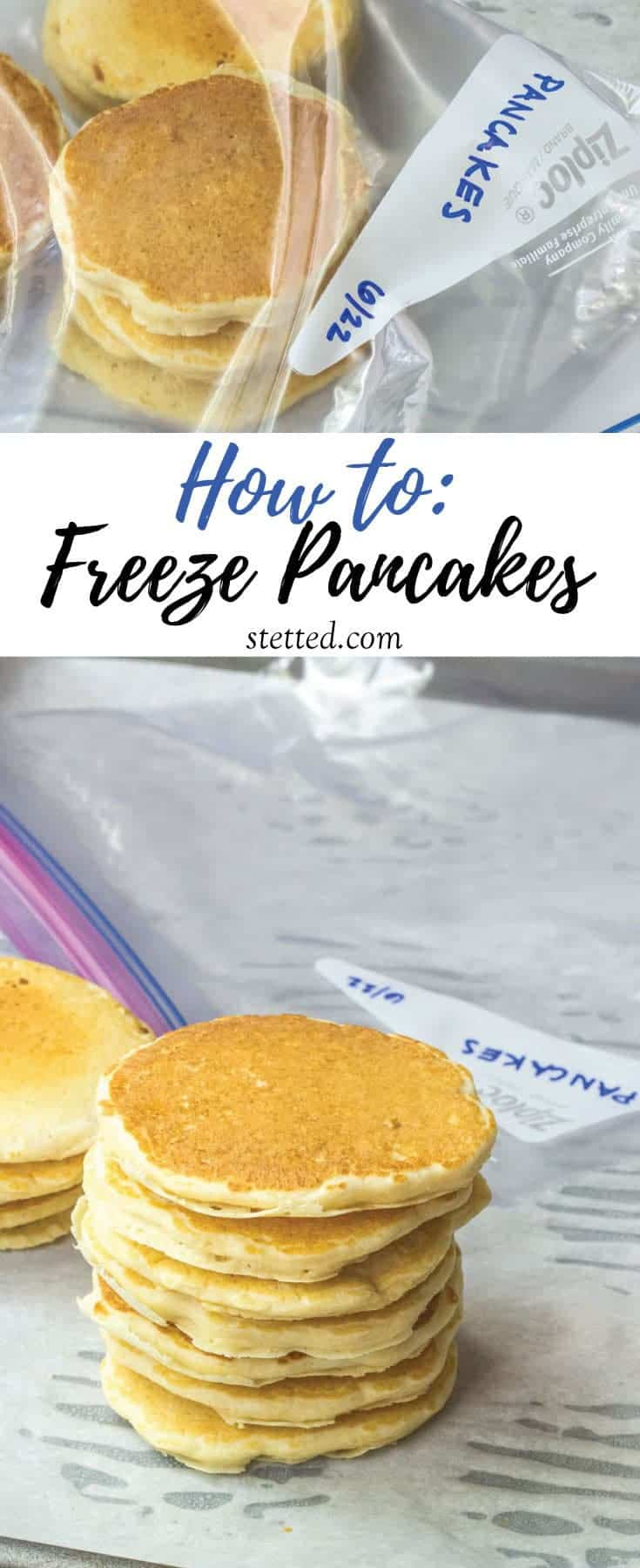Learn how to freeze pancakes and keep a homemade breakfast at the ready! They reheat in seconds for a quick and easy meal.