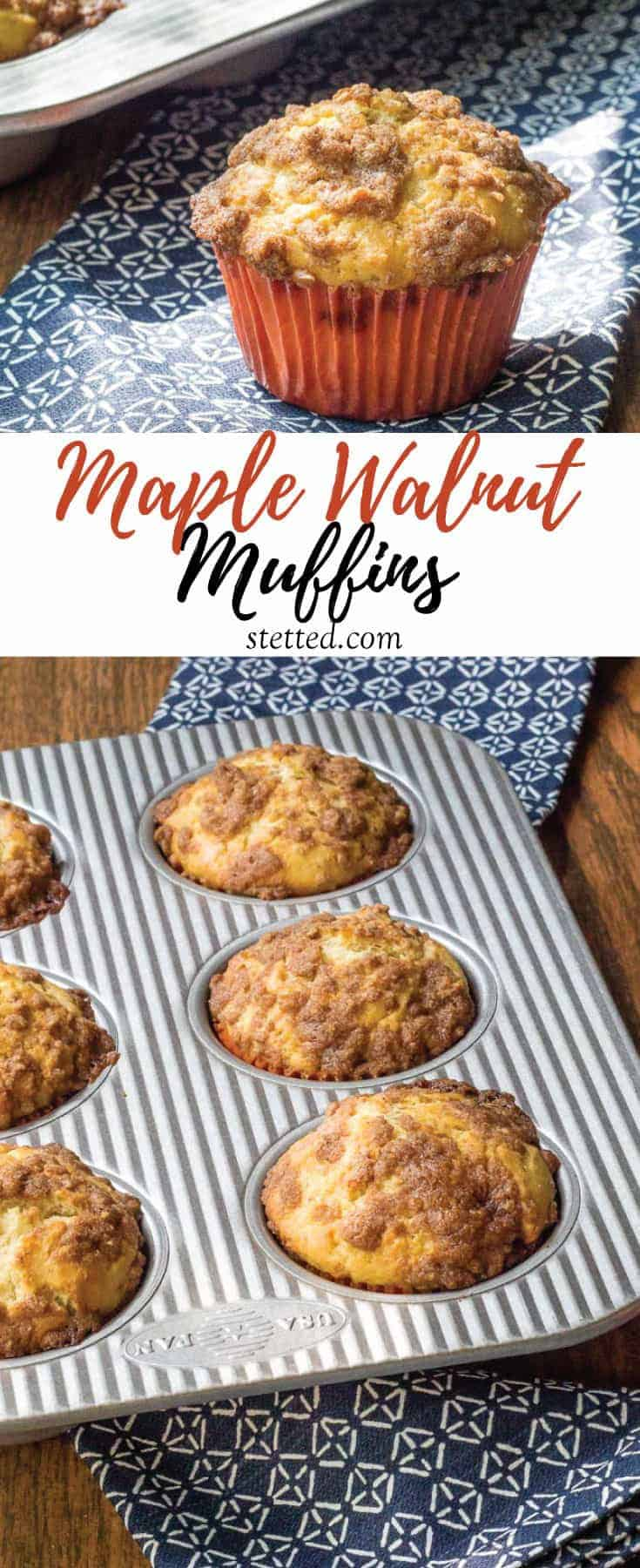 Maple walnut muffins have sweet maple flavor and crunchy walnuts. Skip the coffeehouse and make them at home!