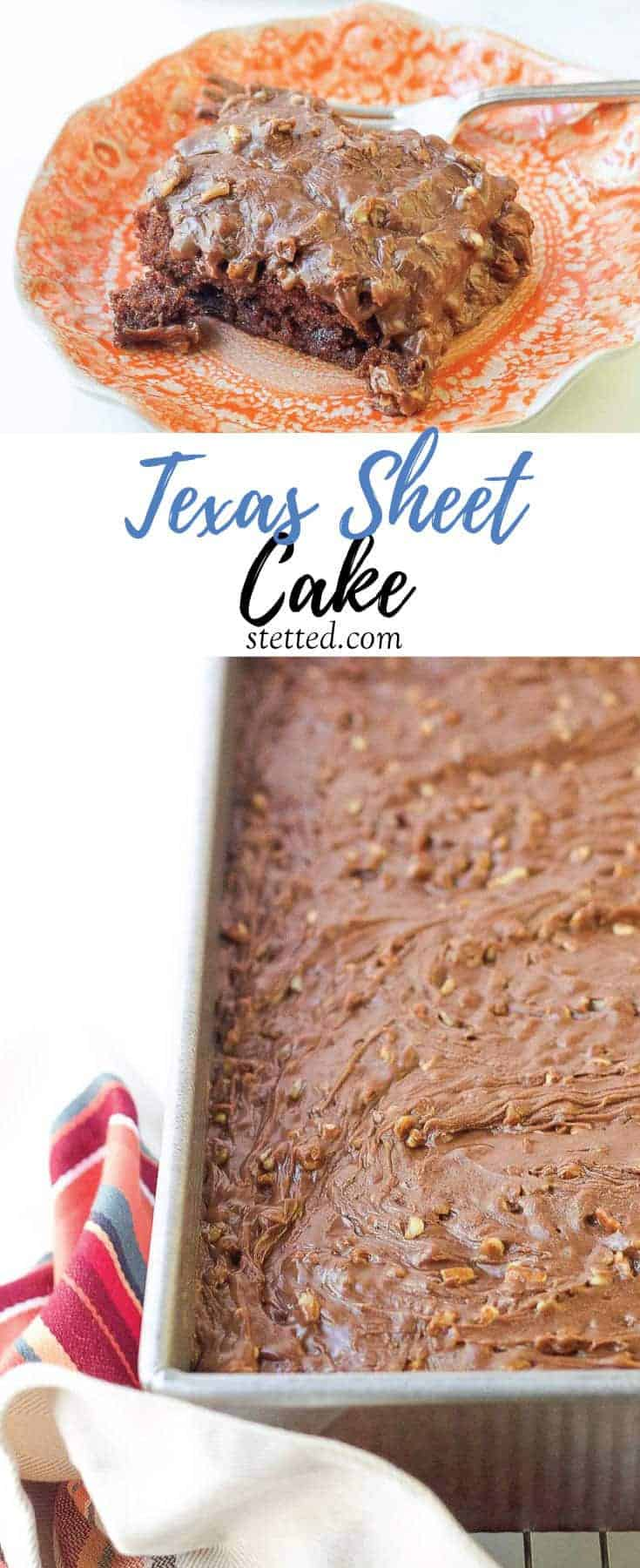 Texas Sheet Cake is ooey-gooey party perfection.