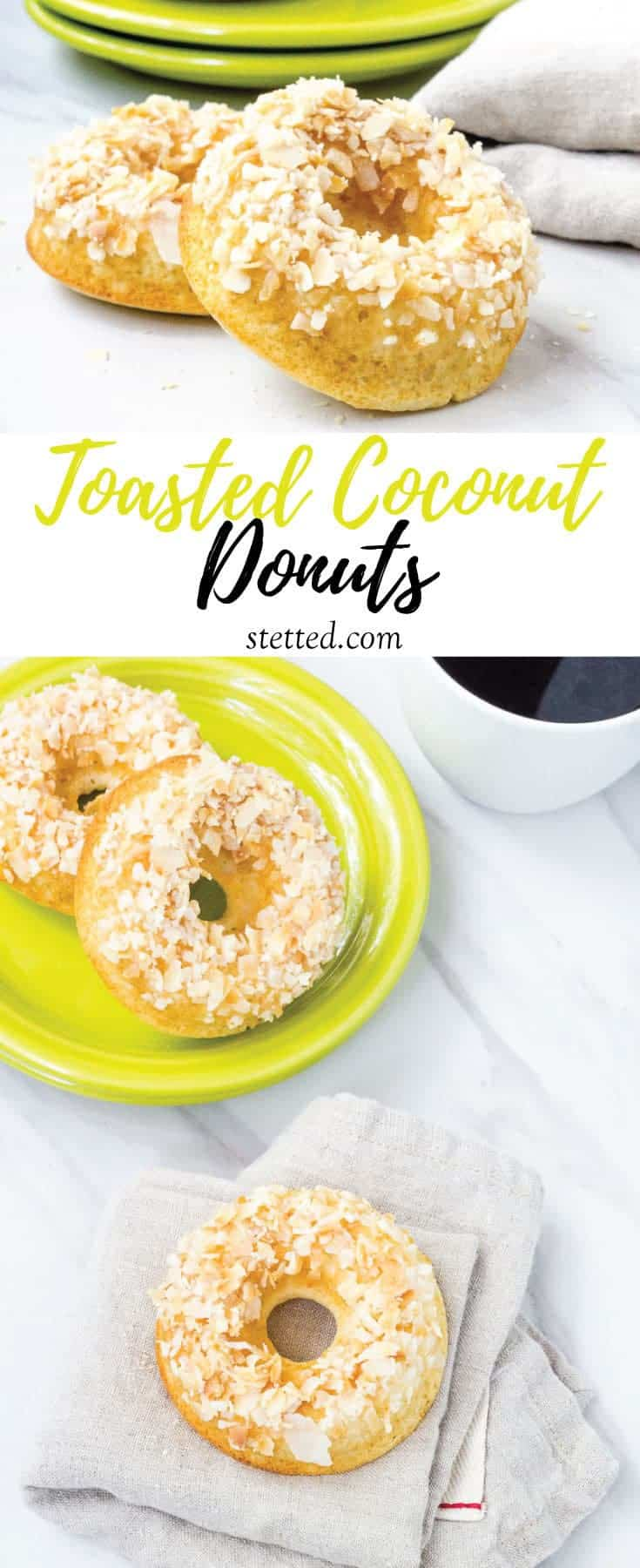 Toasted coconut donuts are full of tropical flavor. They're easy to make any day of the week to ease your donut craving.