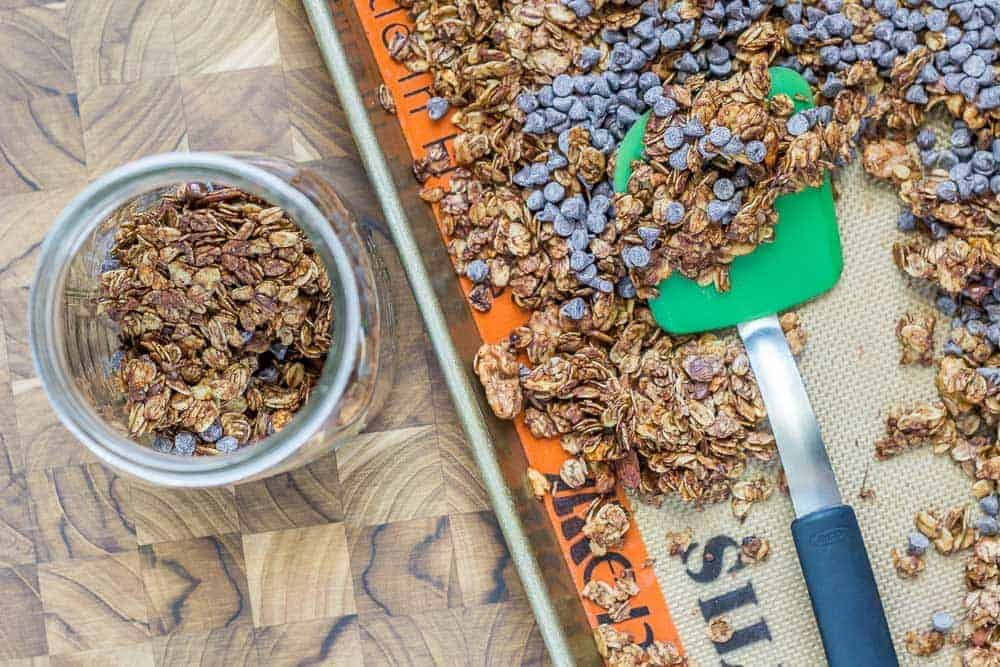 Mocha java granola is a great make-ahead breakfast.