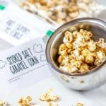 Smoked salt caramel corn is a wonderful snacking treat. The smoked salt gives it that little bit of extra that you didn't know you needed.