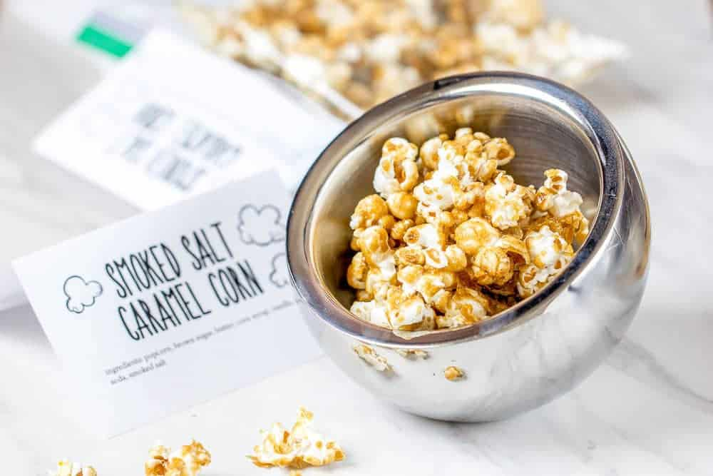 Smoked salt caramel corn is a sweet-salty treat! It's easy to make at home, too.