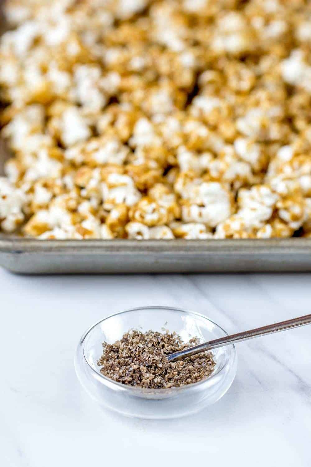 Smoked salt adds umami to the standard caramel corn. You'll love it!