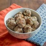 Baked bison meatballs are quick and easy to make any night of the week. Use them for pasta, sandwiches, and more.