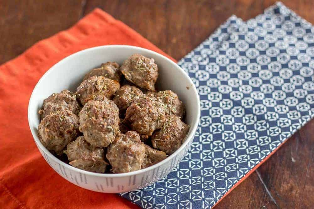 Baked bison meatballs are great in a sandwich, or on their own.