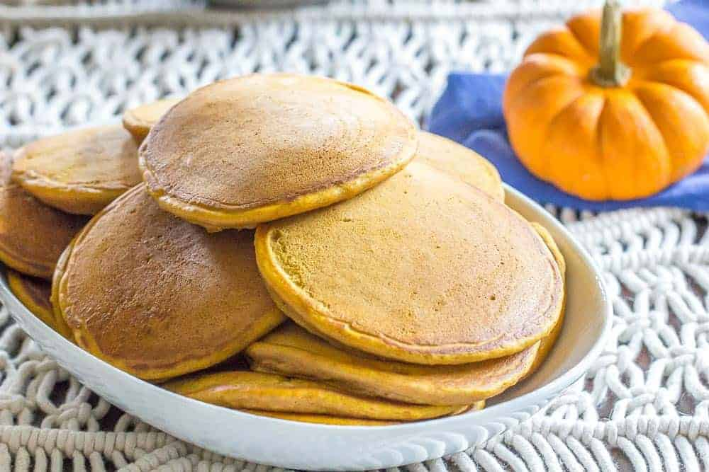 Pumpkin season means pumpkin pancakes! Make a big batch for your crew today.