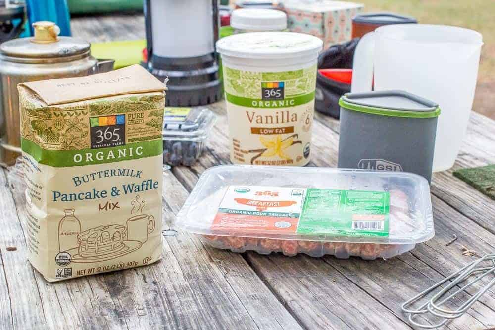 Whole Foods Market products for camp breakfast
