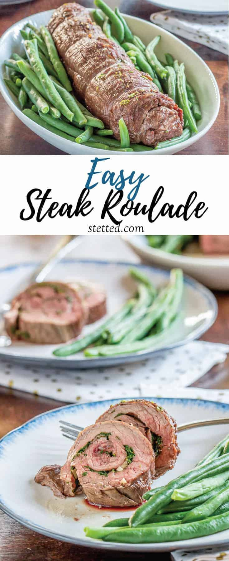 This easy steak roulade recipe looks impressive, but it's simple enough to put together on weeknights. An orange gremolata is stuffed inside for a fresh take.
