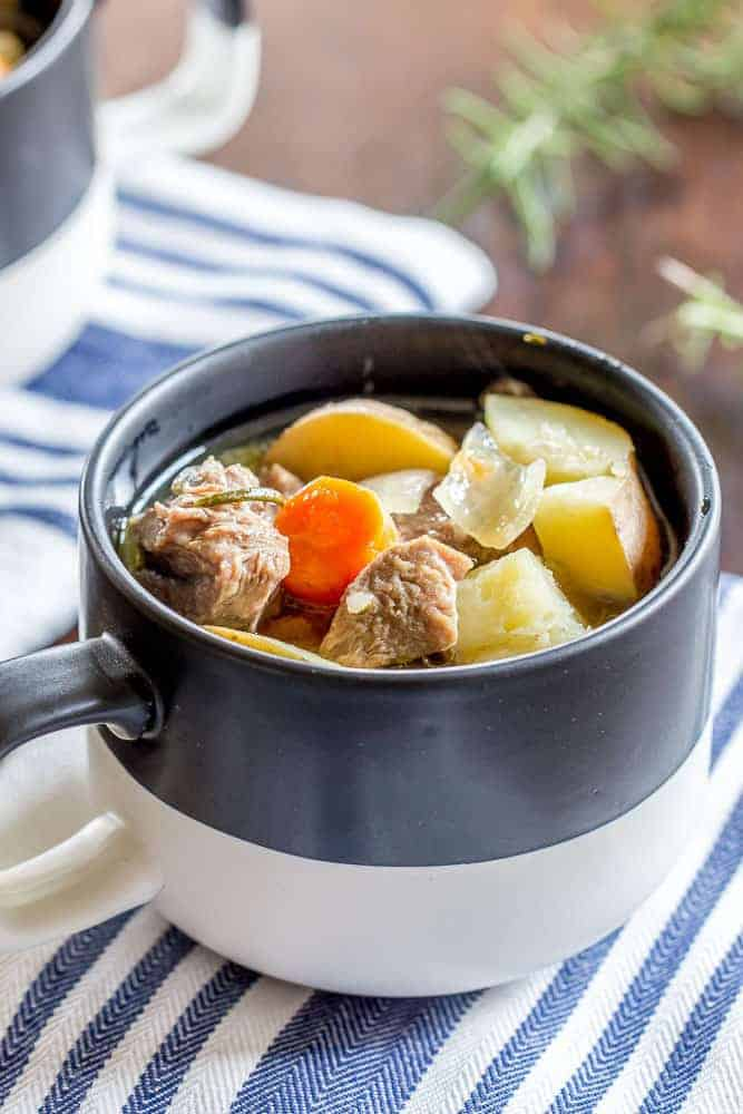 Instant Pot Irish lamb stew is a wonderful dinner for the whole family. Make it ahead of time and warm it for amazing leftovers!