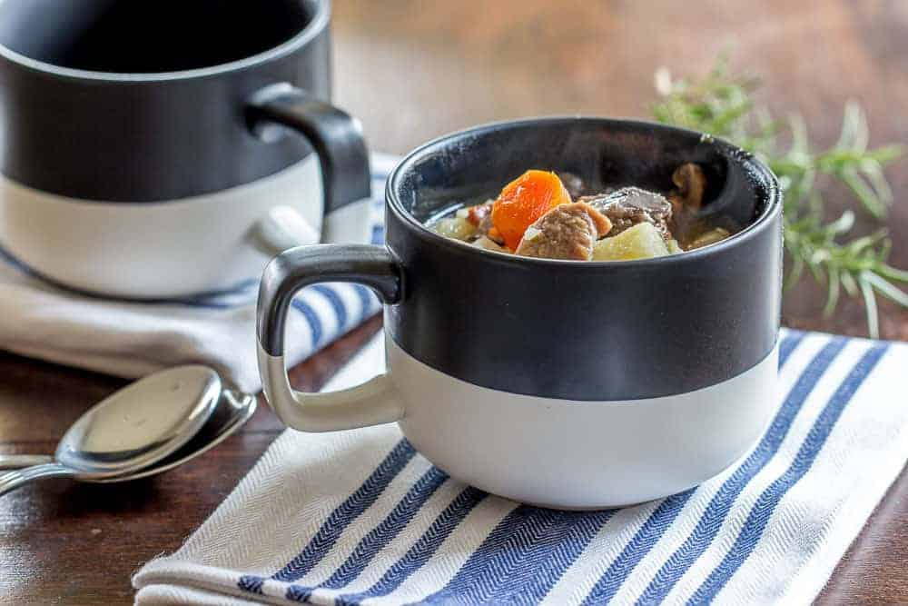 Instant Pot Irish lamb stew is a hearty meal made in half the time of the traditional.