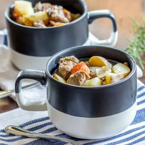 This comforting Instant Pot Irish lamb stew is full of tender lamb and vegetables. It's a wonderful way to end to the day.
