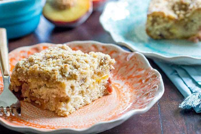 Make this easy peach coffee cake for your weekend brunch. It's great for an afternoon snack, too.