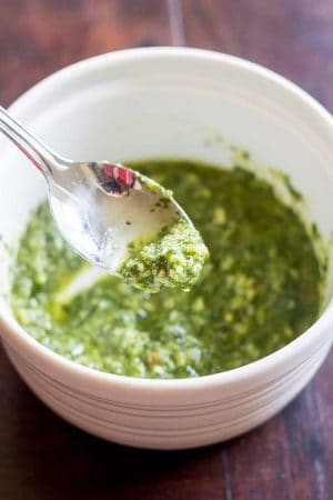 Homemade pesto sauce brings you the best of summer. Use this easy-to-make condiment for pasta, salads, pizza, and more.