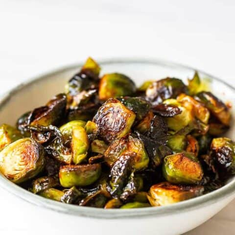 Spicy Glazed Brussels Sprouts