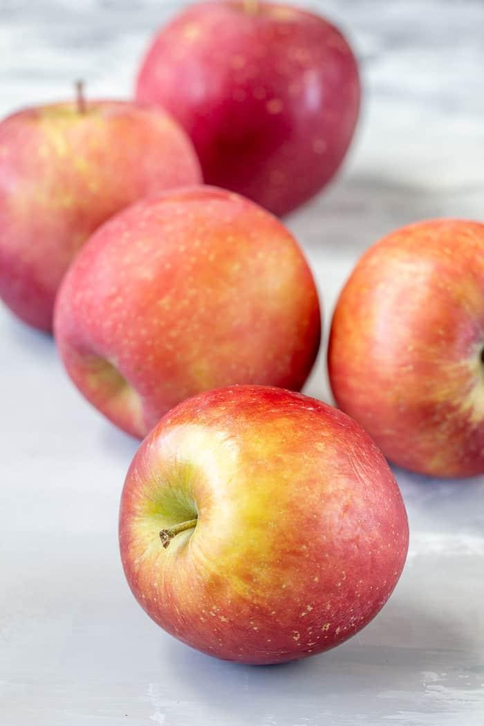 Autumn apples on a table