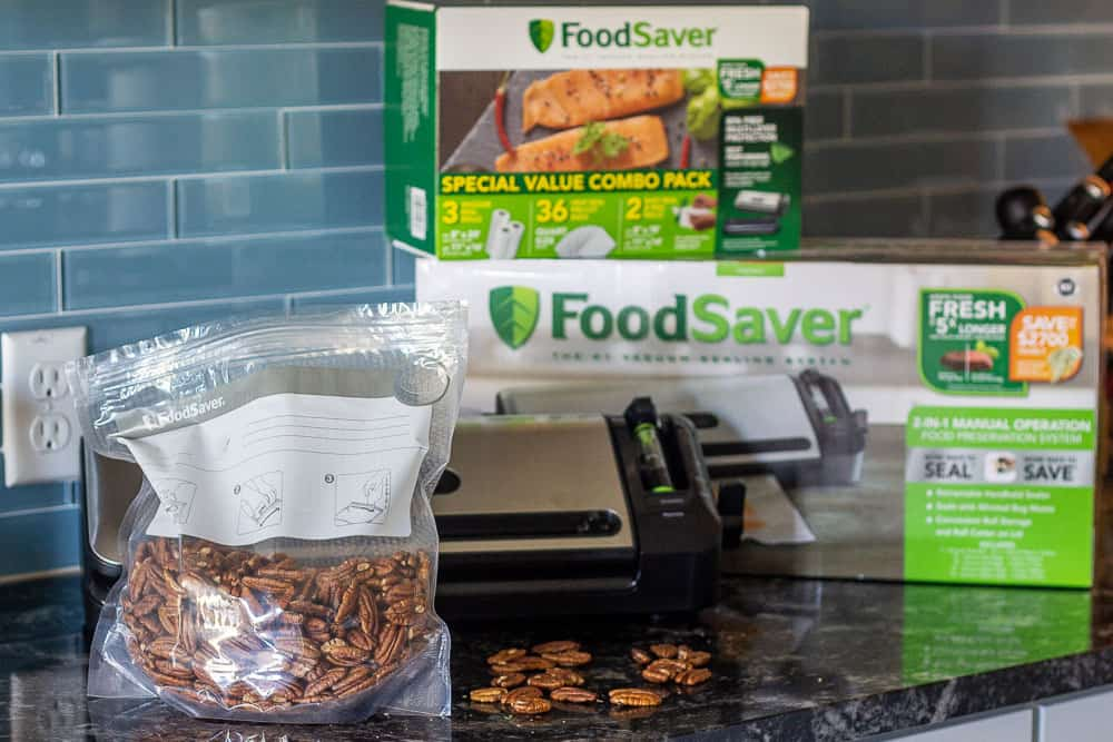 Food saver system with pecans