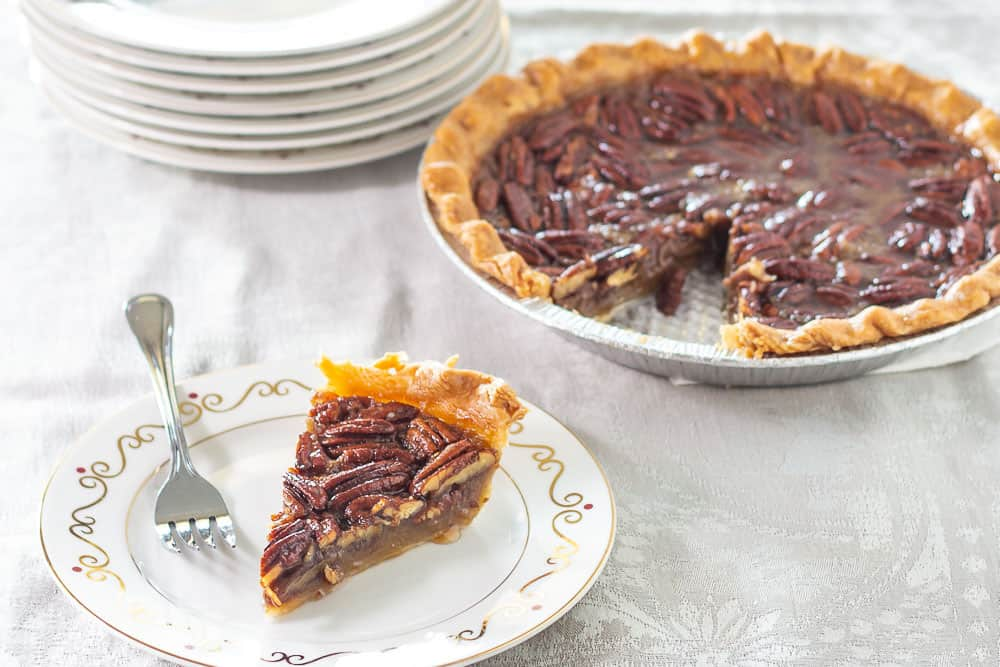 Maple Pecan Pie with slice