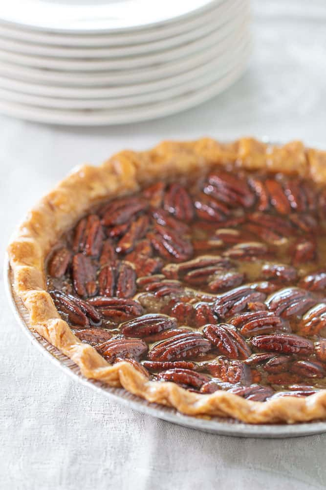 Whole maple pecan pie