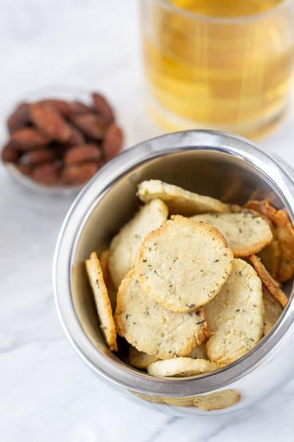Goat cheese crackers