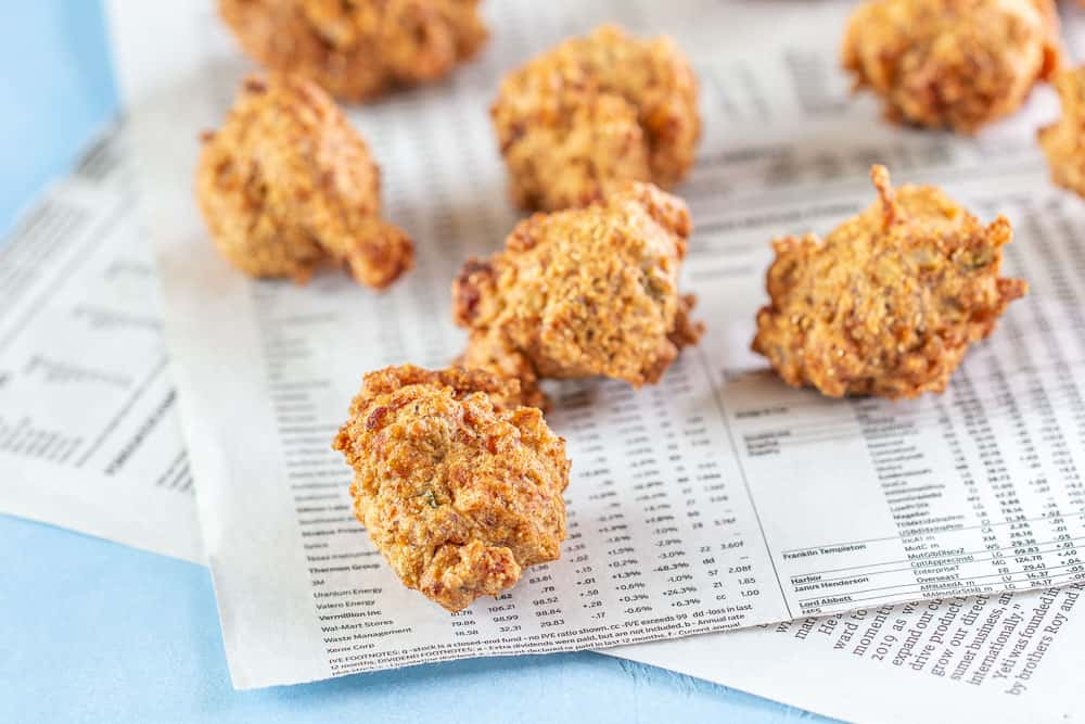 Shrimp hush puppies horizontal