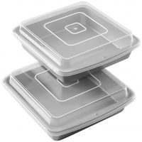 Non-Stick 9-Inch Square Baking Pan with Lid, Set of 2