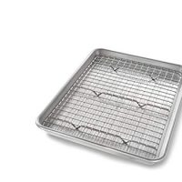 USA Pan Quarter Sheet Baking Pan and Bakeable Nonstick Cooling Rack