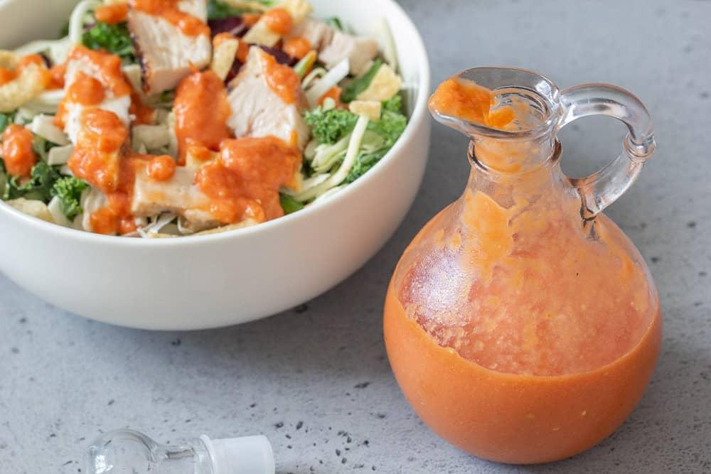 Roasted tomato salad dressing horizontal