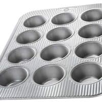 USA Pan Bakeware Cupcake and Muffin Pan, 12 Well