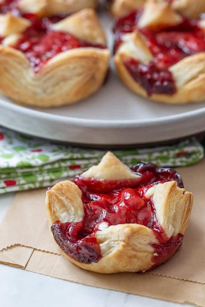 danish with red fruit