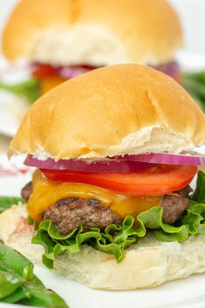 close up of ground bison burger