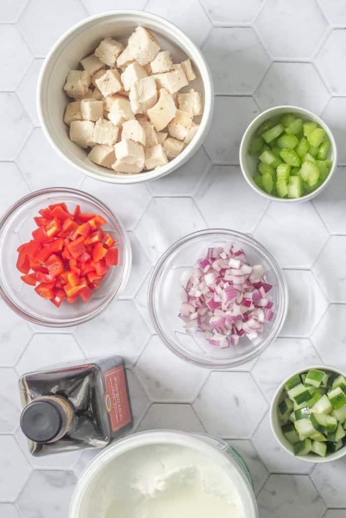 ingredients for chicken pasta salad